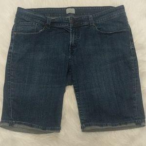 LEVI'S Cuffed Denim Bermuda Shorts